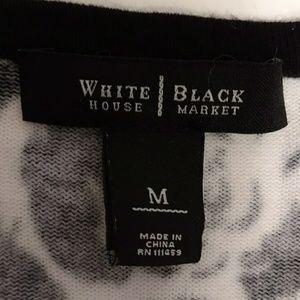 White House Black Market Sweaters - WHBM Cardigan Sumner Weight Sweater Black & White